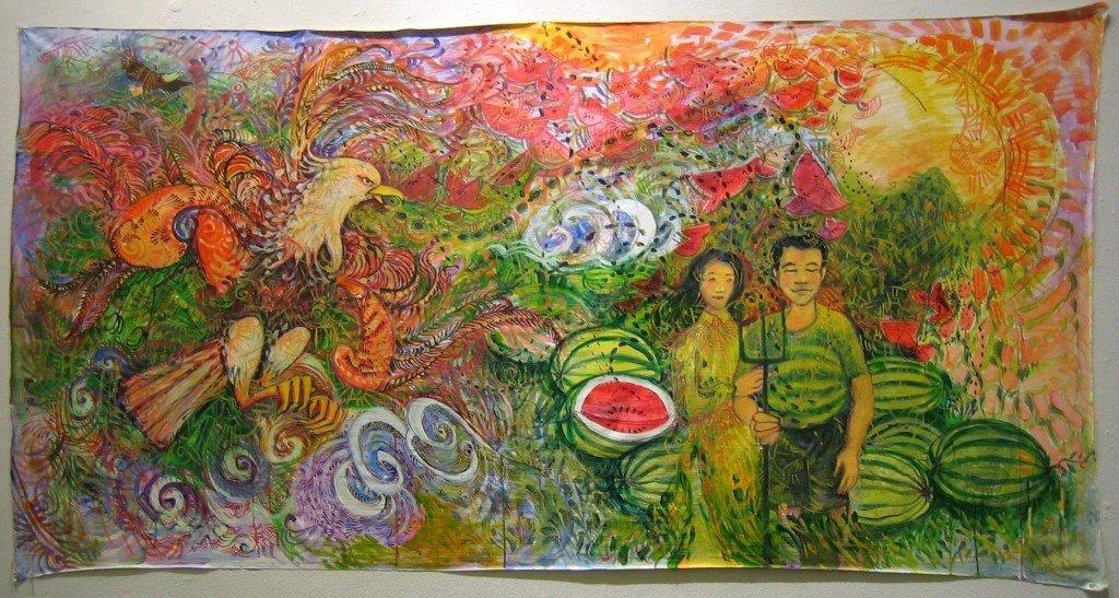 Histoire de la pastèque - Légende vietnamienne dans Croyances & Légendes watermelon-island